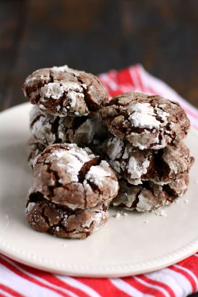 vegan gluten free chocolate crinkle cookie recipe