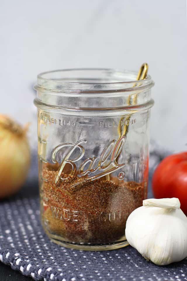 gluten free taco seasoning in a jar