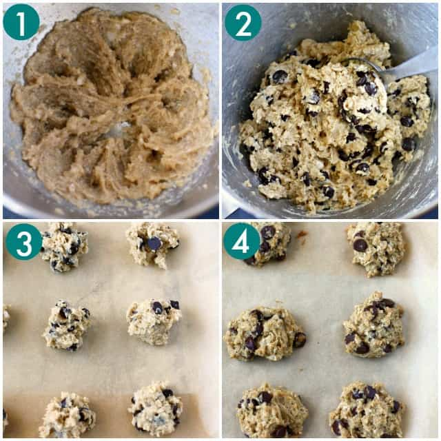 how to make oatmeal coconut chocolate chip cookies