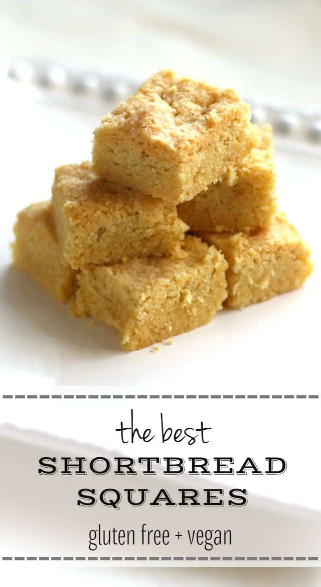 gluten free shortbread bars