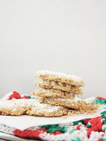 snowy oatmeal crispies recipe gluten free and vegan
