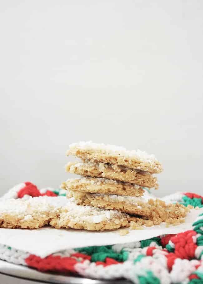gluten free snowy oatmeal crispies recipe