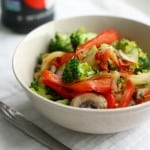 A tasty way to eat lots of veggies - gluten free sweet and spicy stir fry!