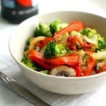A sweet and spicy vegetarian stir fry recipe. Easy week night meal that everyone loves!