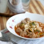Mini Italian Meatball Soup.