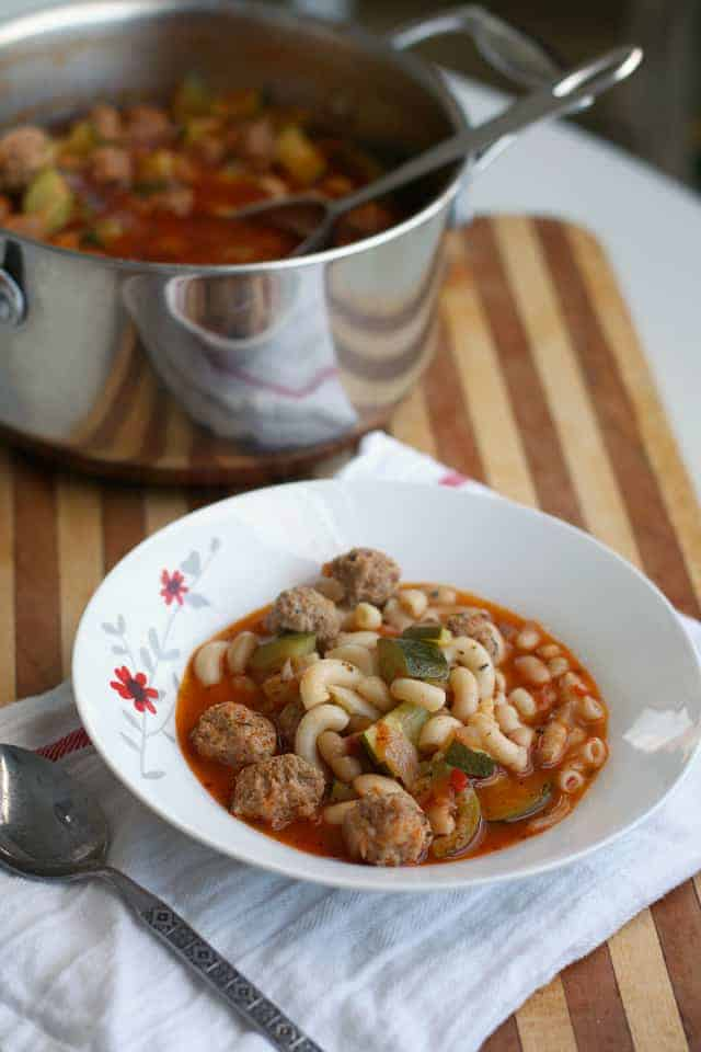 mini Italian meatball soup recipe