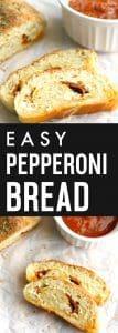 Easy, cheesy, DELICIOUS pepperoni bread!