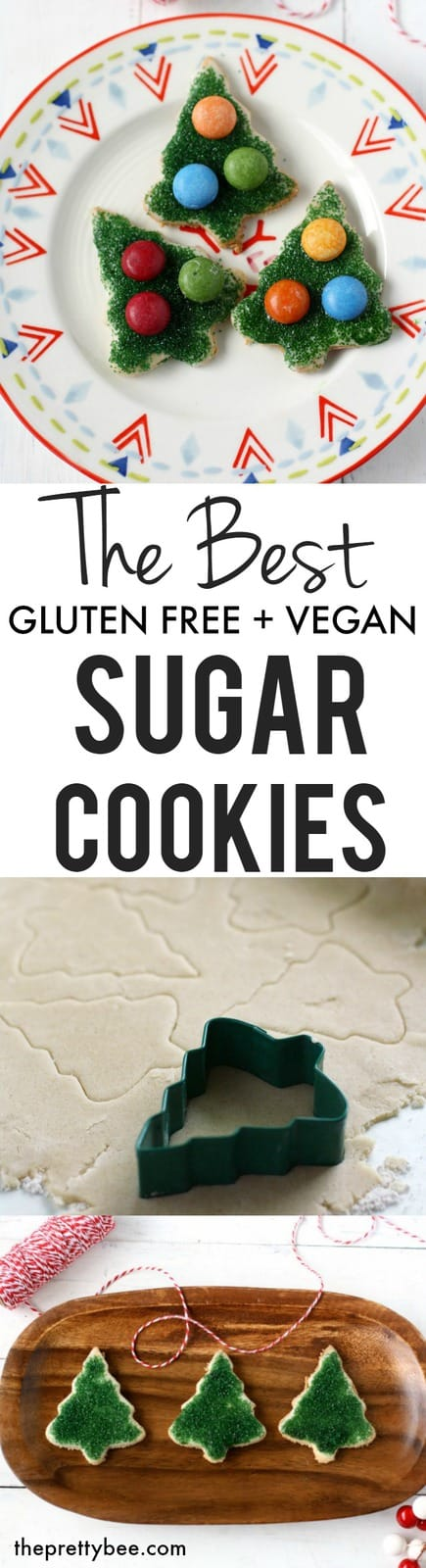 Easy and delicious gluten free vegan sugar cookies are perfect for your holiday baking!