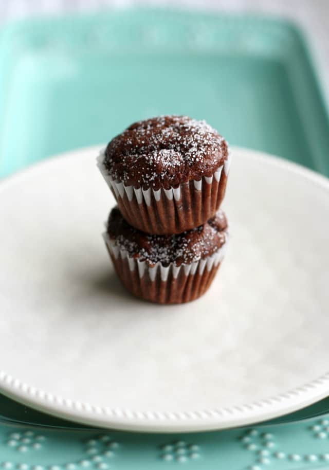Coconut Milk Chocolate Mini Muffins The Pretty Bee