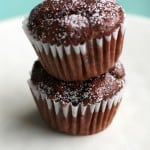 Super moist and chocolatey mini muffins made with coconut milk! These are so tasty and snackable!