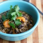Turkey, black bean and sweet potato chili. Easy and tasty, and gluten free and dairy free!
