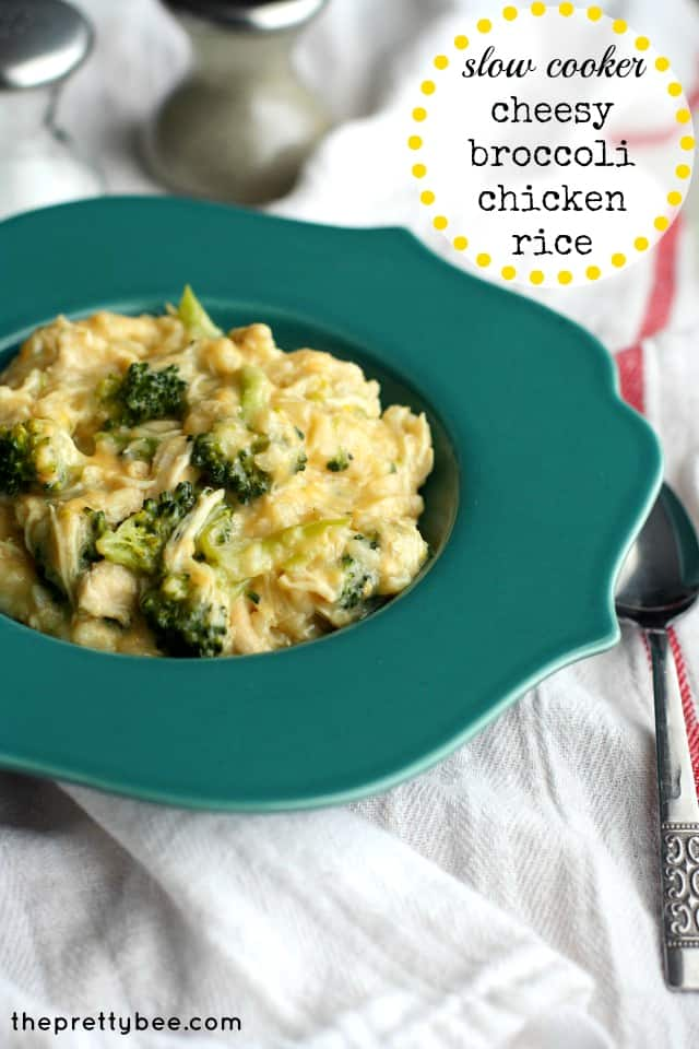 Easy cheesy broccoli chicken rice recipe, dairy free and gluten free.