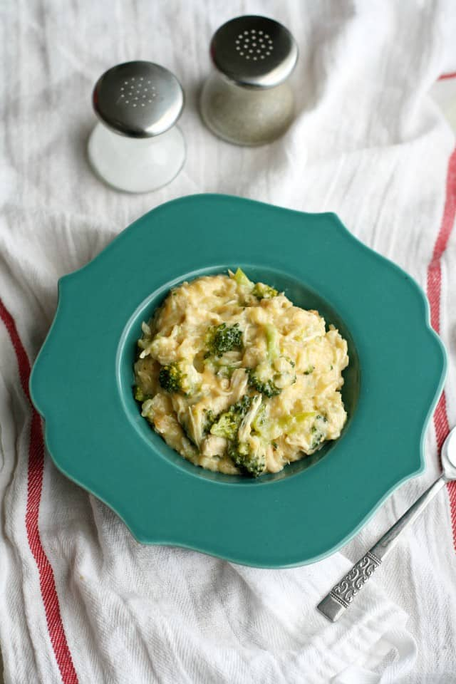 comforting cheesy chicken broccoli rice gluten free and dairy free