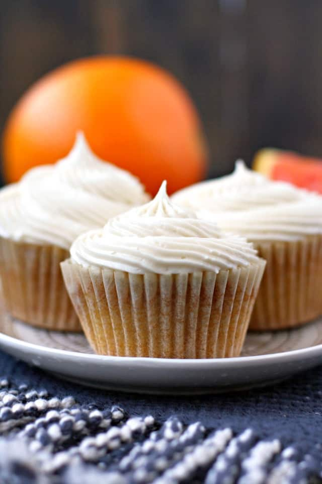 vegan orange cupcakes