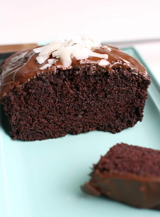 Vegan Chocolate Coconut Cake with Rich Chocolate Glaze ...