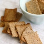 Absolutely delicious crunchy whole grain cracker recipe. A simpler, healthier version of wheat thins.