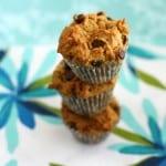 Peanut Butter Chocolate Chip Mini Muffins - Vegan and Gluten free.