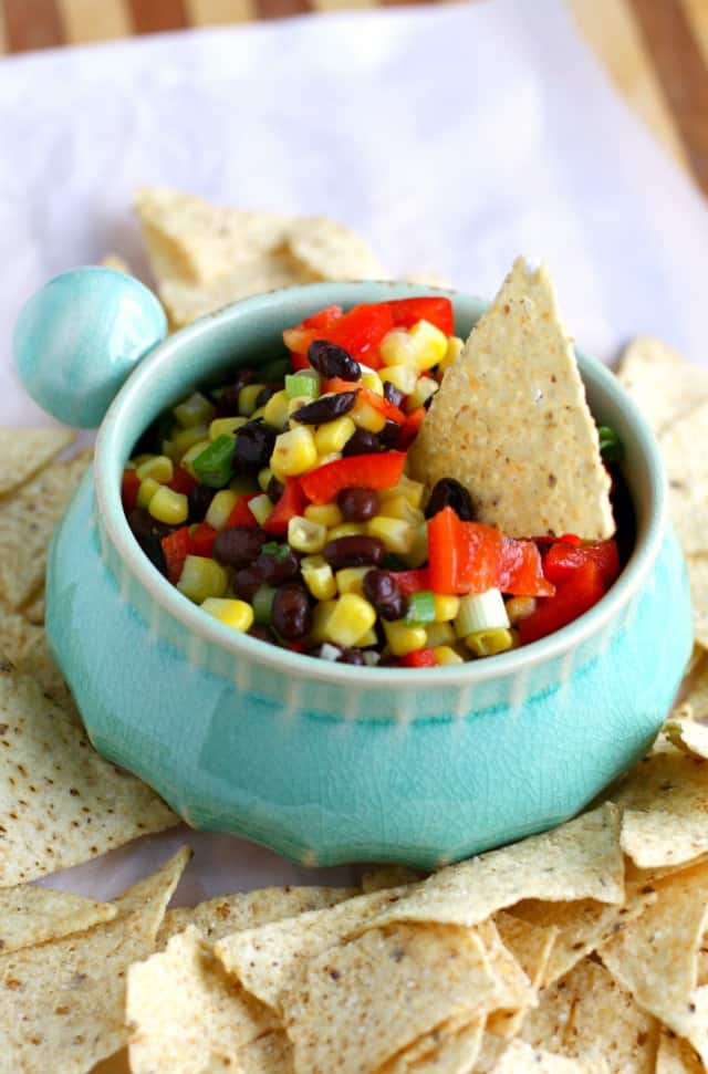 Sweet and tangy black bean and corn salsa i