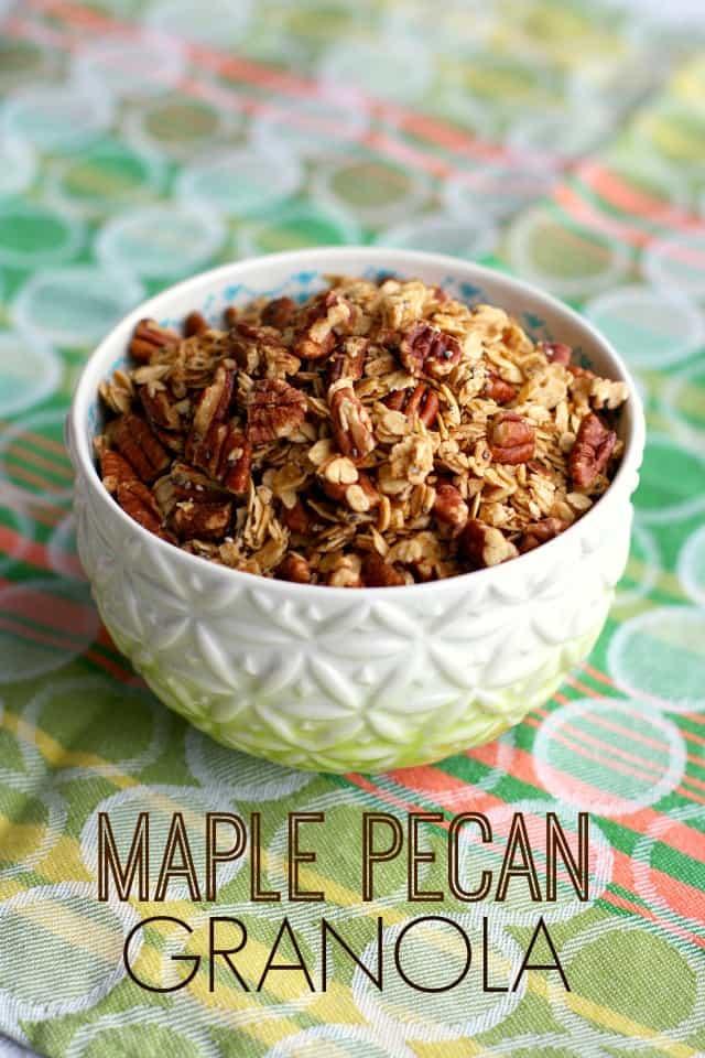 easy maple pecan granola