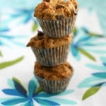 gluten free and vegan peanut butter chocolate chip muffins