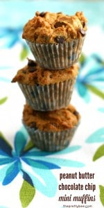 Easy and healthy recipe for chocolate chip peanut butter muffins. A delicious sweet treat!