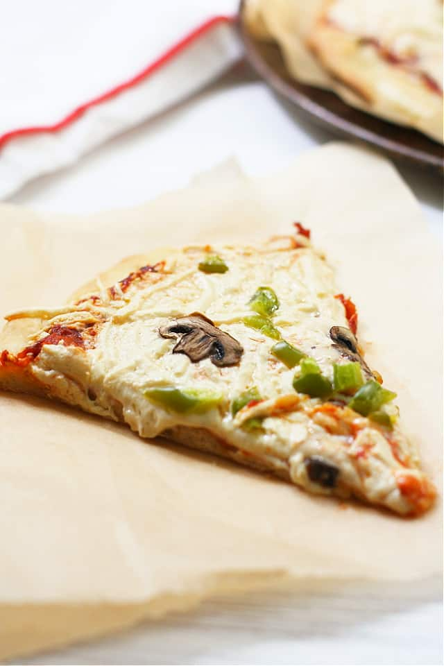 slice of dairy free pizza