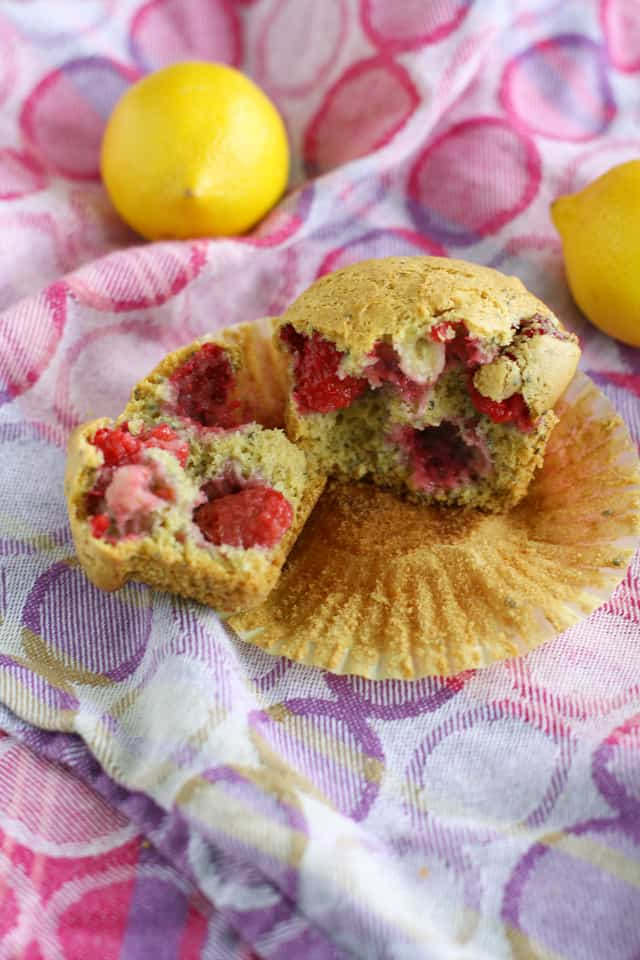 Easy to make, these raspberry lemon chia seed muffins require just one bowl!