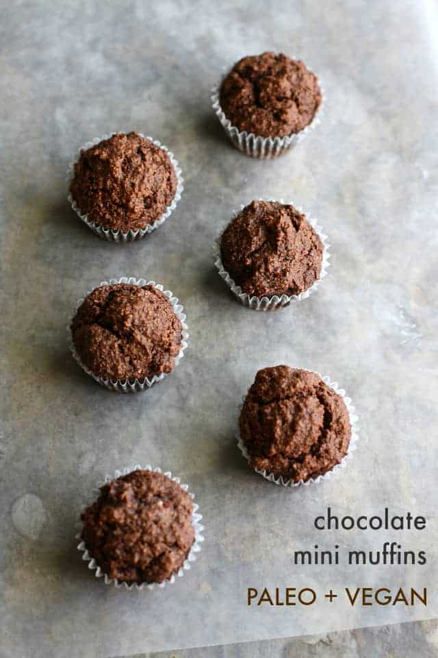 vegan paleo chocolate muffins