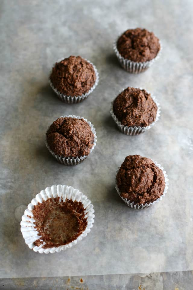 vegan grain free chocolate mini muffins