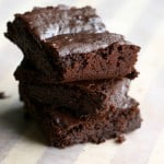 Decadent and delicious gluten free and vegan black bean brownie recipe.