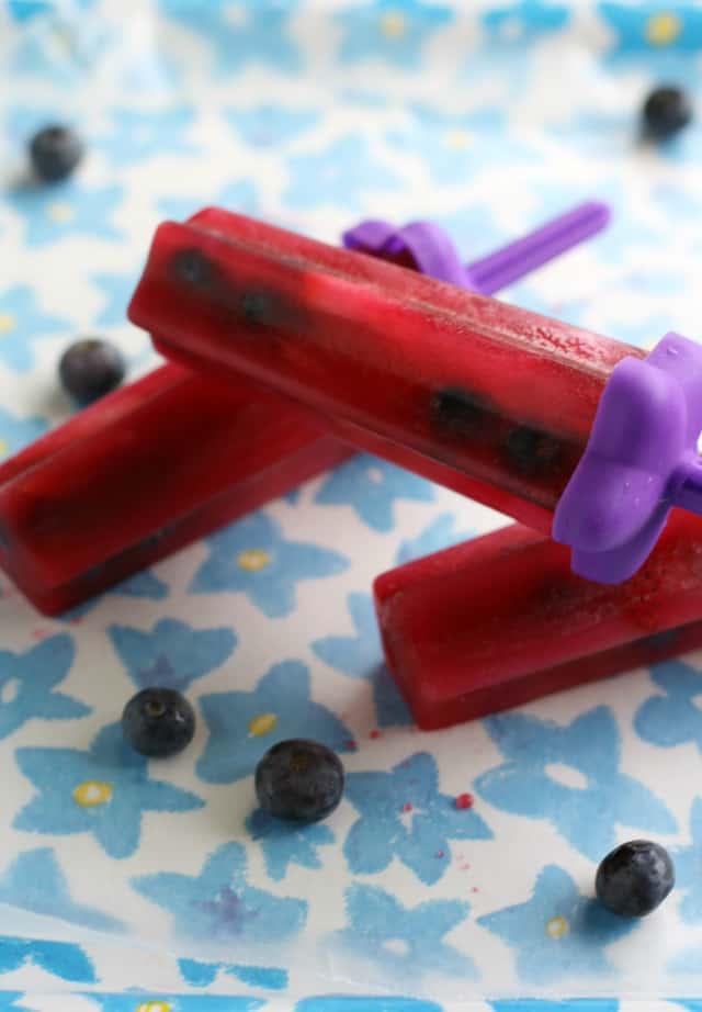 berry tea popsicles