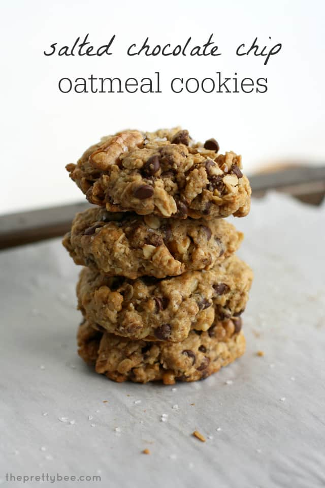 Oatmeal Chocolate Chip Sea Salt Cookies Recipe — Dishmaps