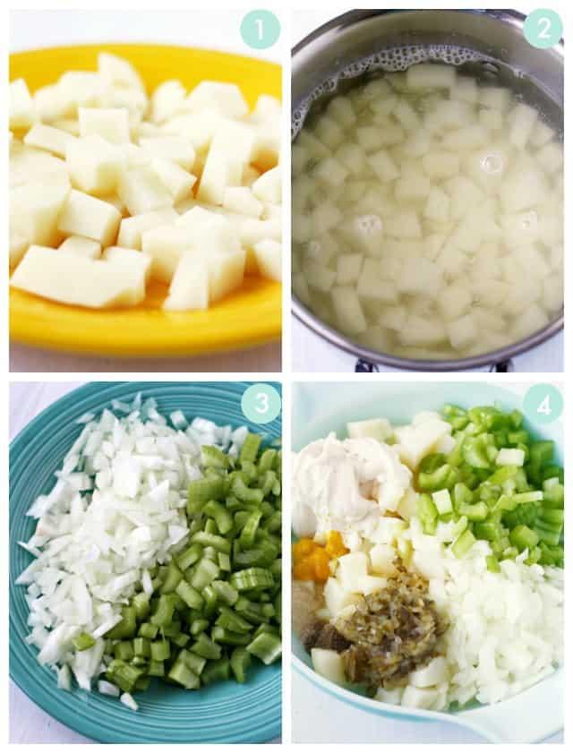 how to make vegan potato salad