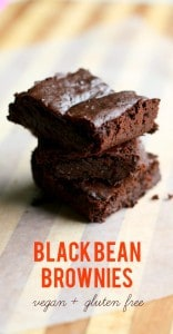 These black bean brownies are super rich and decadent, and best of all, they're gluten free and vegan!