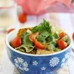 Easy and healthy spicy lentil taco salad.