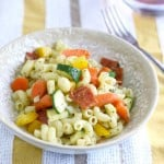 Italian pasta salad with pepperoni, vegetables, and a homemade vinaigrette.