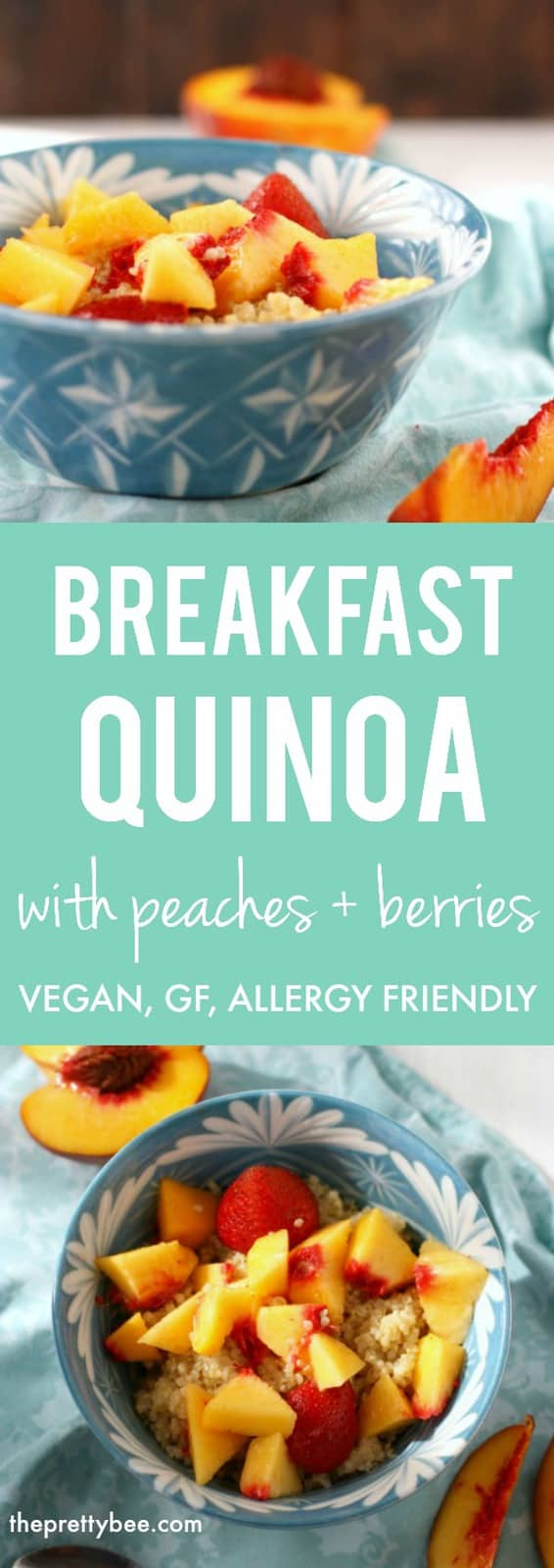 Creamy breakfast quinoa is a healthy and tasty way to start the day! Gluten free and dairy free, and so delicious! #glutenfree #dairyfree #nutfree #vegan #breakfast