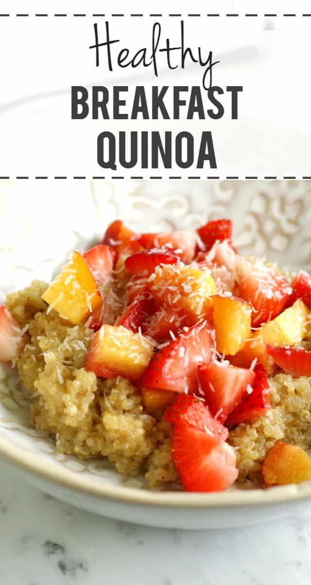 Creamy breakfast quinoa is a healthy and tasty way to start the day! Gluten free and dairy free.