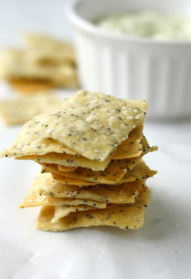 stack of gluten free crackers