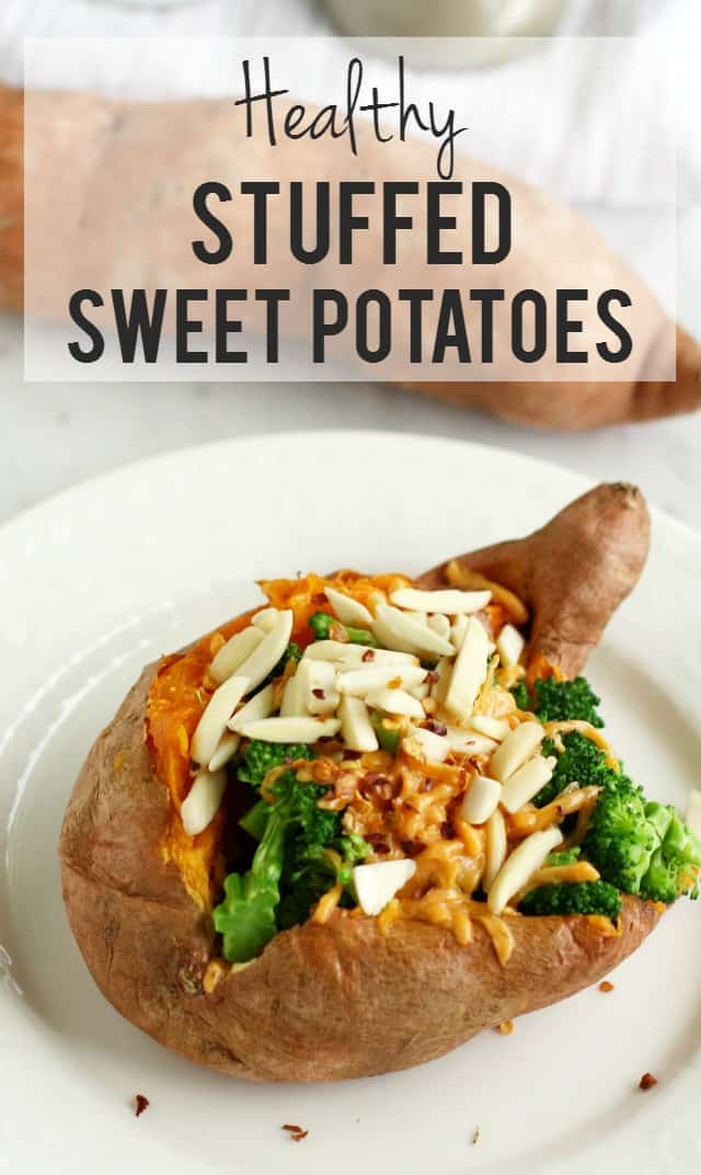 A super healthy lunch - these sweet potatoes are loaded with healthy and tasty toppings! Gluten free.