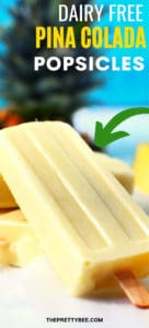 pina colada popsicles with pineapple in the background