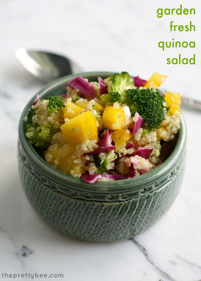Easy and healthy quinoa salad loaded with delicious veggies!