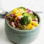 Garden fresh quinoa salad with a sweet vinaigrette.