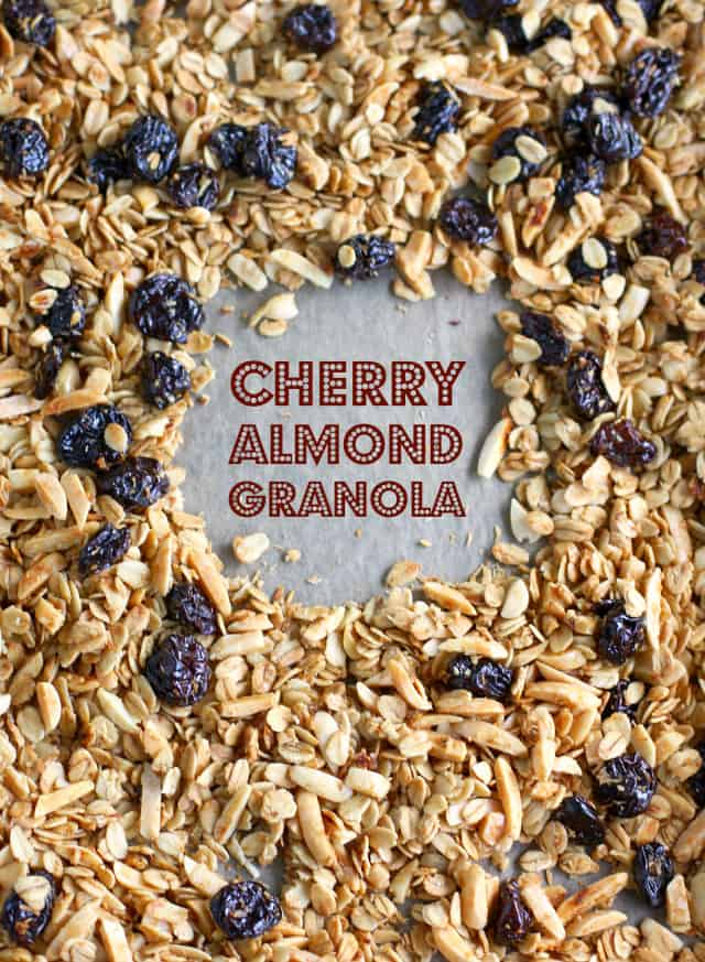 gluten free cherry almond granola