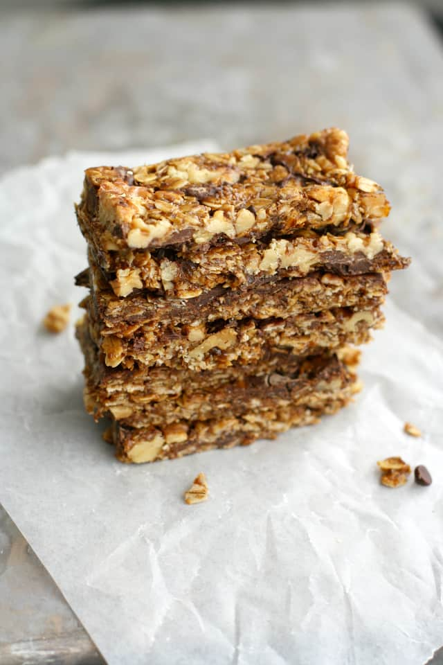 These easy, chewy, and chocolatey homemade granola bars are out of this world!