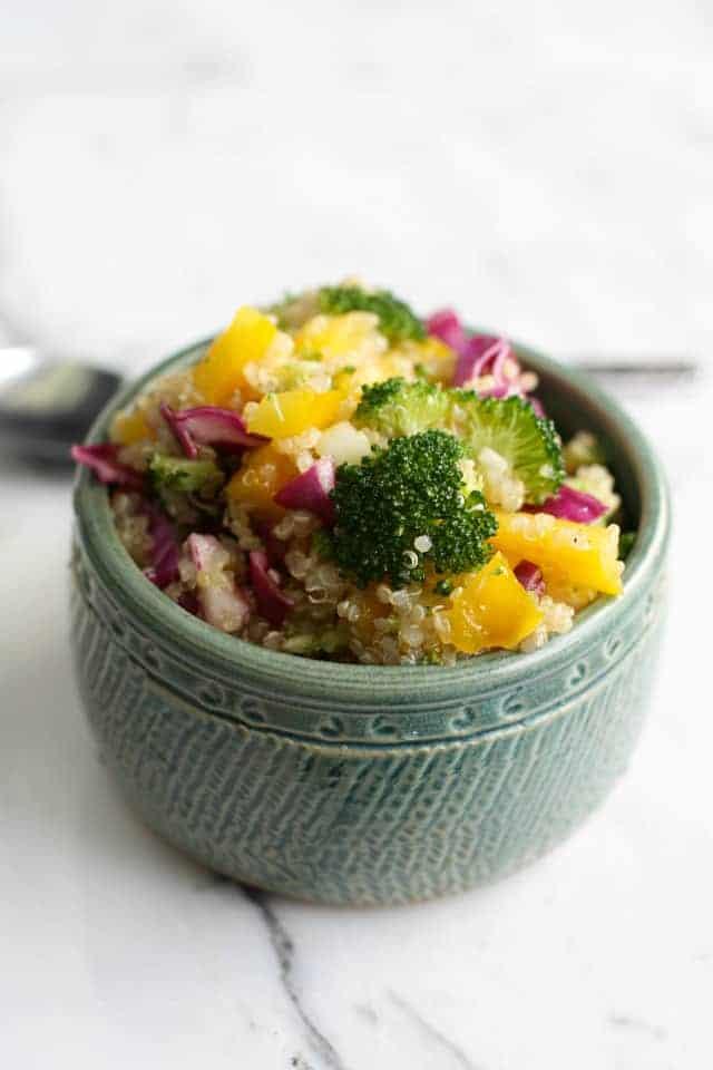 fresh veggie quinoa summer salad