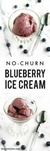 Easy, delicious blueberry ice cream recipe. Light and refreshing for summer!