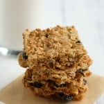 Cranberry oat bars - a low sugar, healthy snack option!