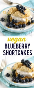 These blueberry shortcakes just scream summertime! Simple and fresh, an easy dessert. #vegan