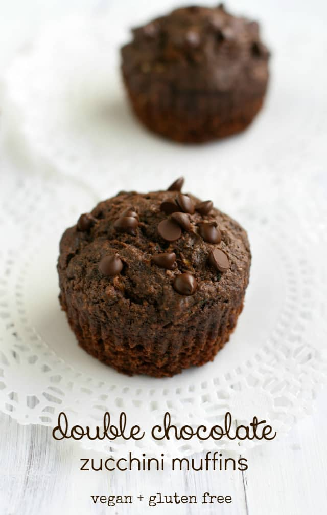 Amazing double chocolate zucchini muffin recipe. A delicious way to use that zucchini!